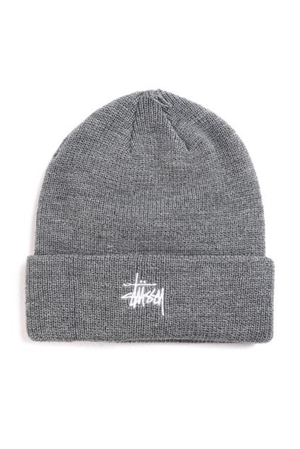 Basic cuff beanie heather