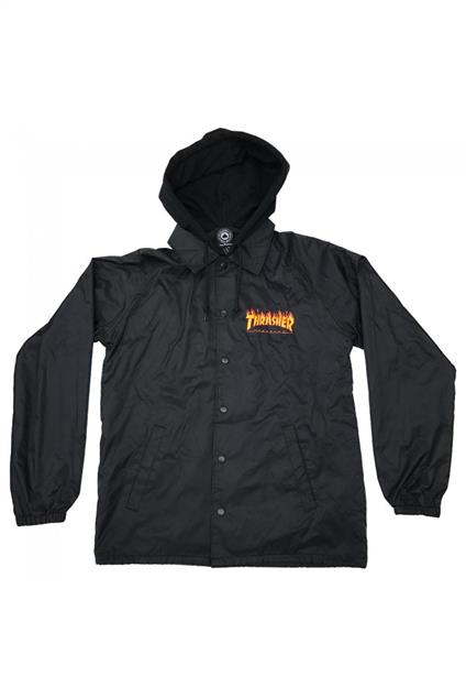 Homme THRASHER Flame Mag Coach Jacket