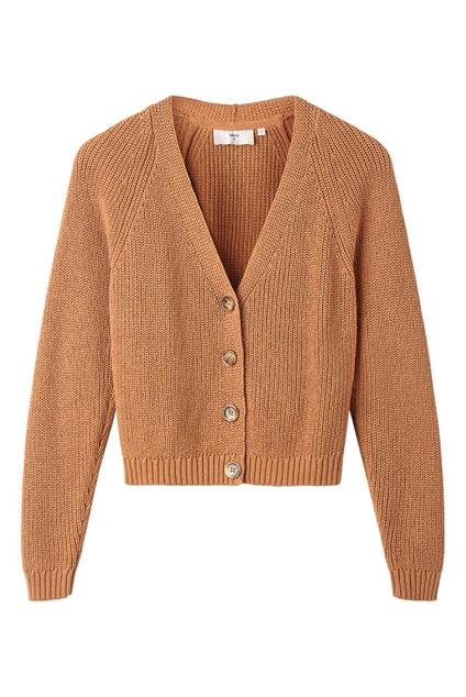Femme Minimum Spitza Cardigan - tobacco brown