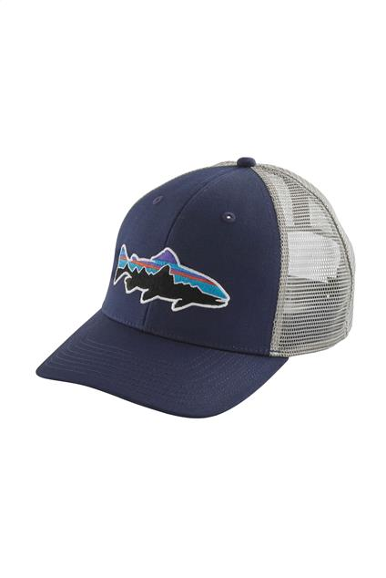 Accessoire Patagonia Fitz Roy Trout Trucker Hat (mid crown) - classic navy/drifter grey